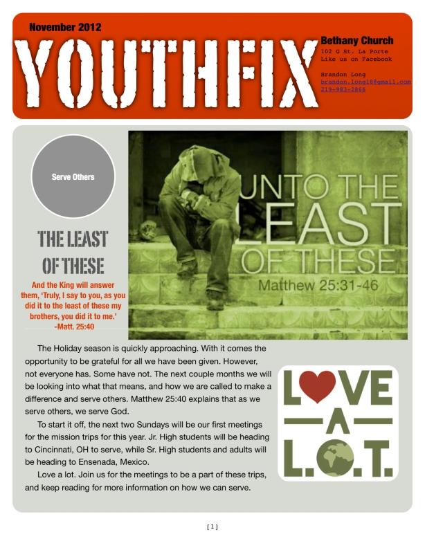 November Newsletter p 1