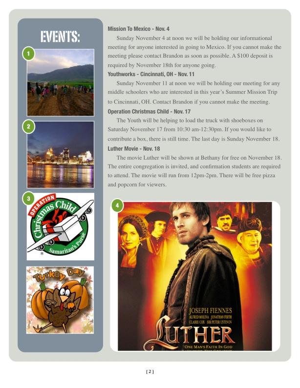 November Newsletter p 2
